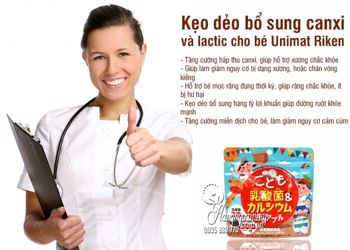 Kẹo bổ sung canxi và lactic cho bé Unimat Riken 90 viên 7