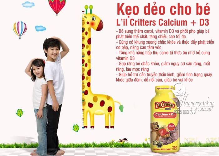 Kẹo dẻo cho bé L'il Critters Calcium + D3 mẫu mới 250 viên 4