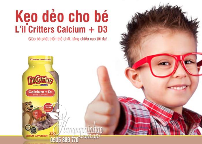 Kẹo dẻo cho bé L'il Critters Calcium + D3 mẫu mới 250 viên 8