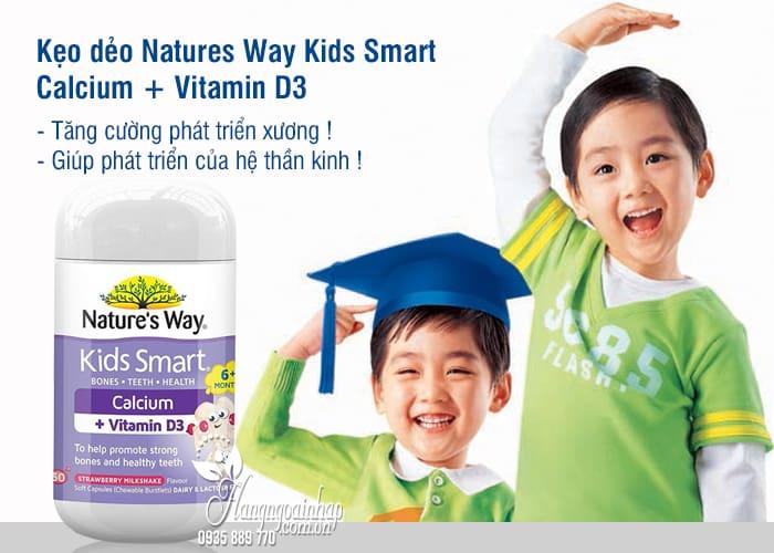 Kẹo dẻo Natures Way Kids Smart Calcium + Vitamin D3 Úc 50v 3