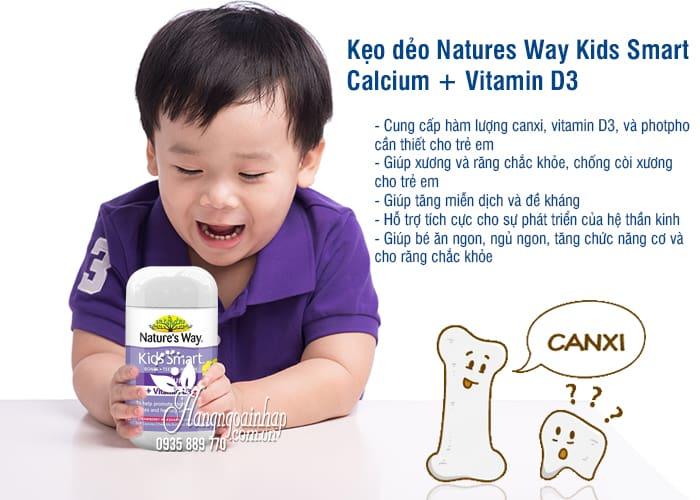 Kẹo dẻo Natures Way Kids Smart Calcium + Vitamin D3 Úc 50v 2