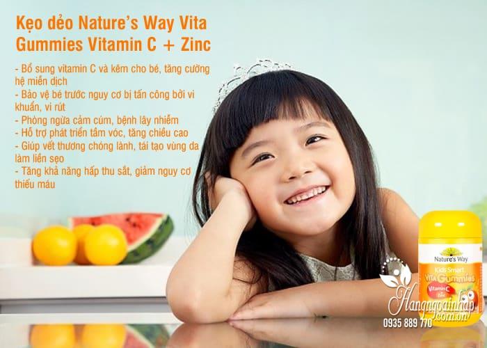 Kẹo dẻo Nature's Way Vita Gummies Vitamin C + Zinc 60 viên Úc 6