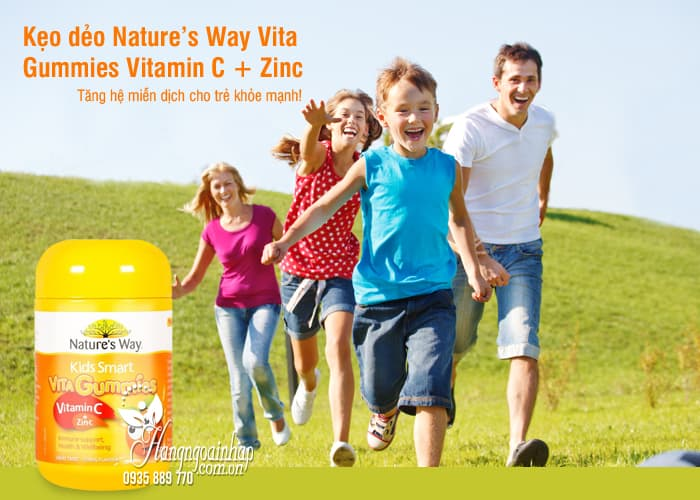 Kẹo dẻo Nature's Way Vita Gummies Vitamin C + Zinc 60 viên Úc 8