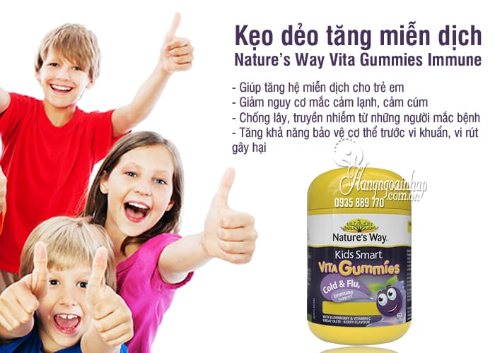 Kẹo dẻo tăng miễn dịch Nature's Way Vita Gummies Immune 60 viên 7