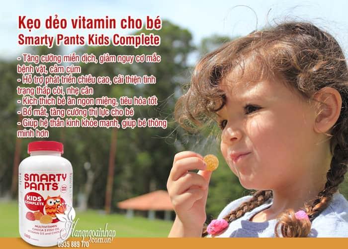 Kẹo dẻo vitamin cho bé Smarty Pants Kids Complete của Mỹ 4