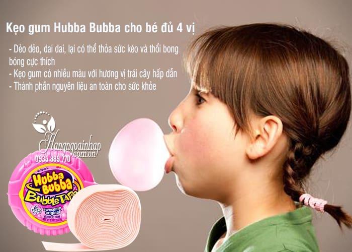 Kẹo gum Hubba Bubba cho bé đủ 4 vị, hàng chính hãng từ Mỹ 2