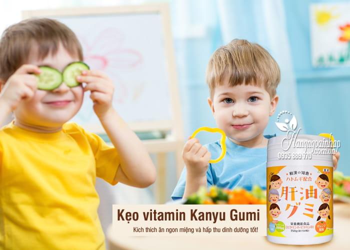 Kẹo vitamin Kanyu Gumi 150 viên hàng Nhật nội địa 3