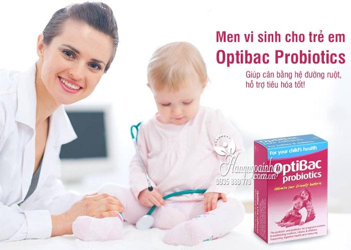 Men vi sinh cho trẻ em Optibac Probiotics hồng của Anh Quốc 3