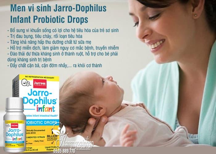 Men vi sinh Jarro-Dophilus Infant Probiotic Drops cho trẻ sơ sinh 5