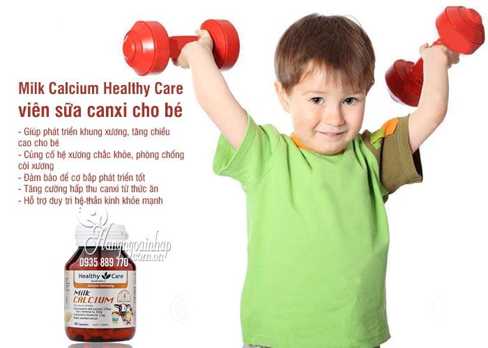 Milk Calcium Healthy Care 60 viên Úc, viên sữa canxi cho bé 2