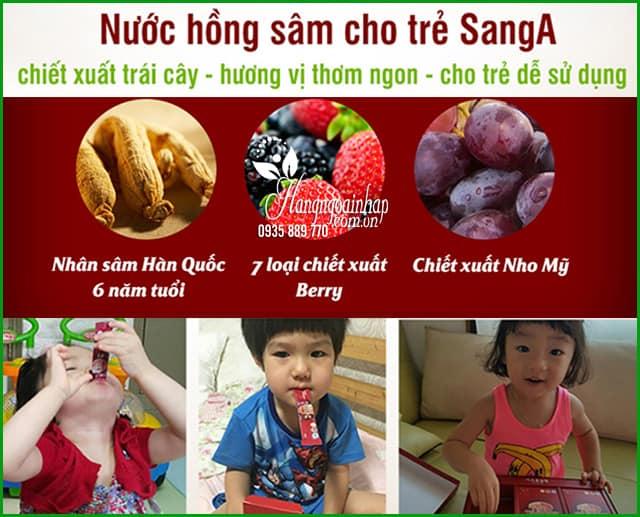 Nước hồng sâm Baby SangA Hàn Quốc 30 gói cho trẻ em 5