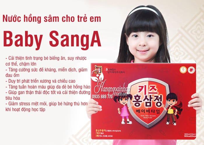 Nước hồng sâm Baby SangA Hàn Quốc 30 gói cho trẻ em 3