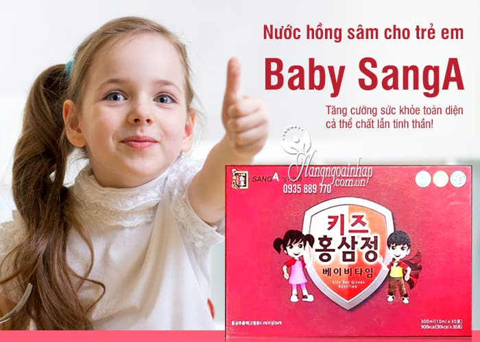 Nước hồng sâm Baby SangA Hàn Quốc 30 gói cho trẻ em 1