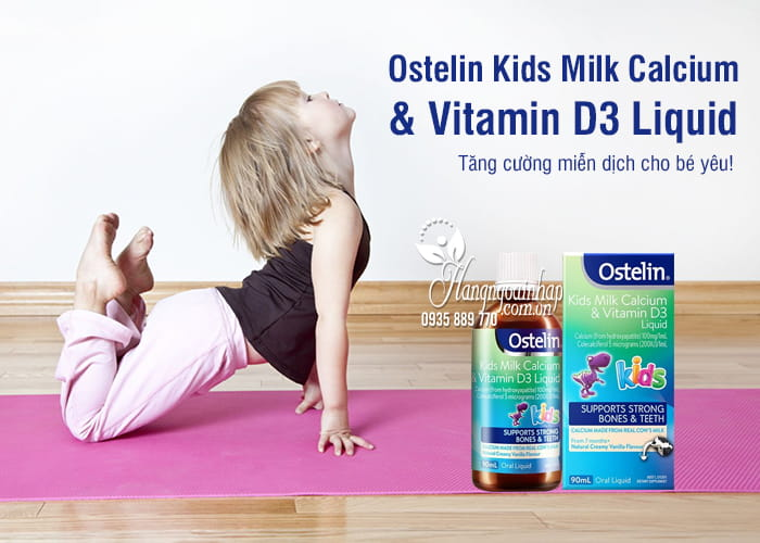 Ostelin Kids Milk Calcium & Vitamin D3 Liquid 90ml của Úc 1