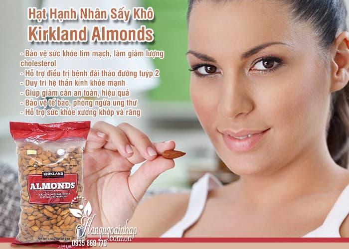 Hạt Hạnh Nhân Sấy Khô Kirkland Almonds Gói 1.36kg 1
