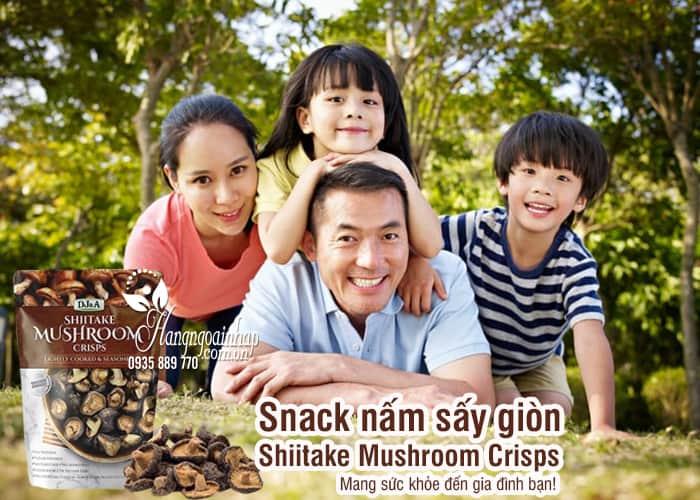Snack nấm sấy giòn Shiitake Mushroom Crisps 150g Úc 2