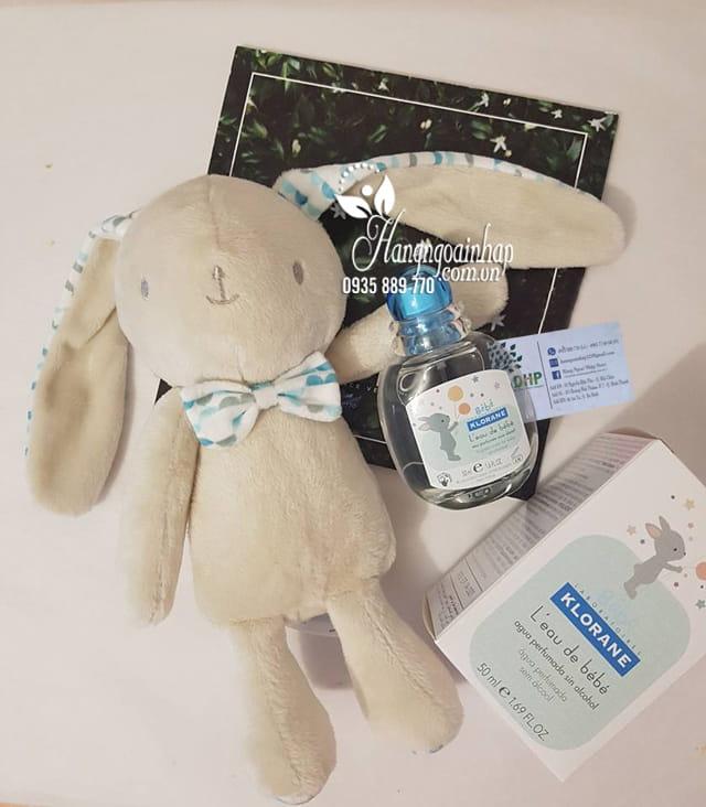 Set nước hoa trẻ em Klorane Bebe 50ml tặng thỏ bông dễ thương 1