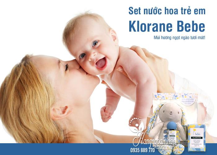 Set nước hoa trẻ em Klorane Bebe 50ml tặng thỏ bông dễ thương 5