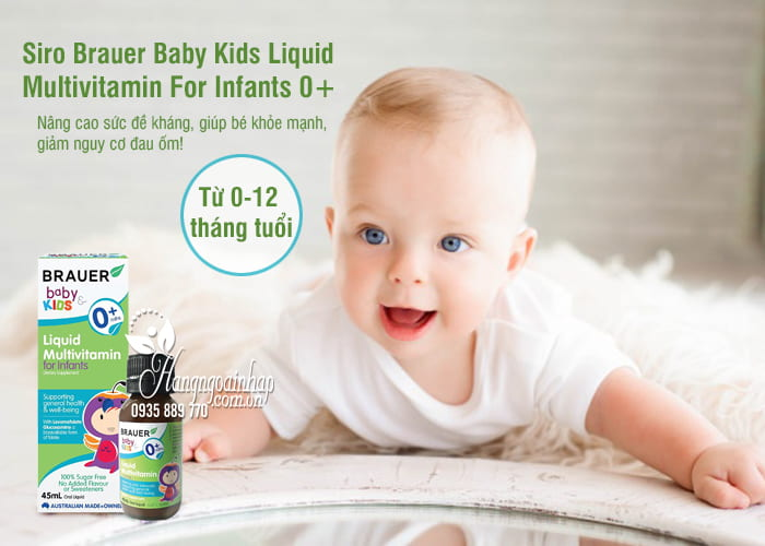Siro Brauer Baby Kids Liquid Multivitamin For Infants 0+ 1