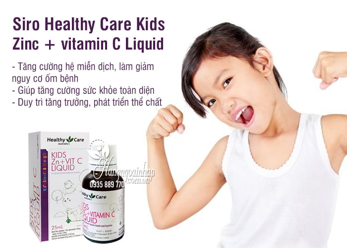 Siro Healthy Care Kids Zinc + vitamin C Liquid 25ml cho bé 7