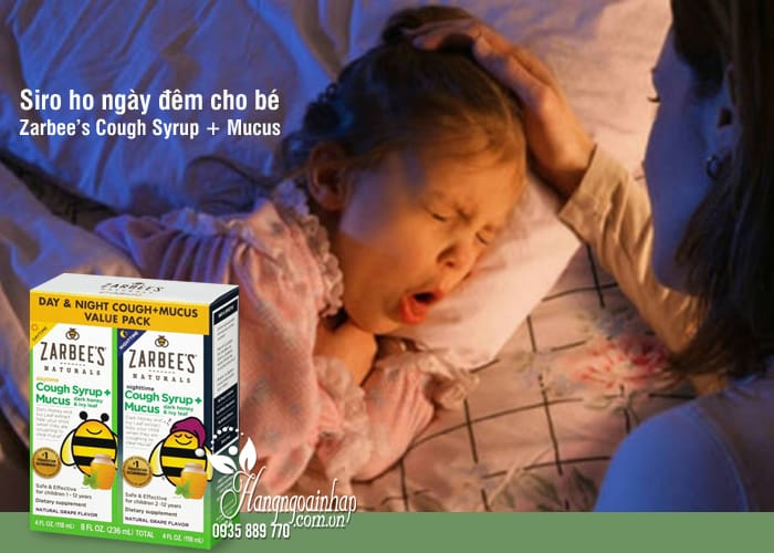 Siro ho ngày đêm cho bé Zarbee's Cough Syrup + Mucus Mỹ 6
