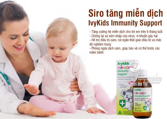 Siro tăng miễn dịch IvyKids Immunity Support trên 6 tháng 2