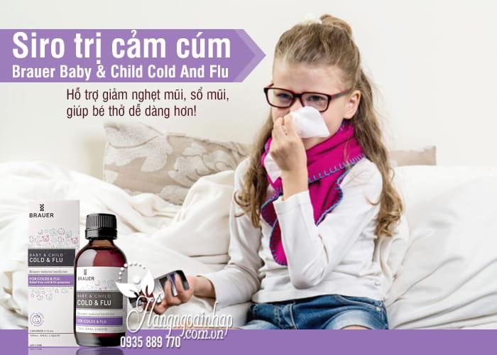 Siro trị cảm cúm Brauer Baby & Child Cold And Flu 100ml 1