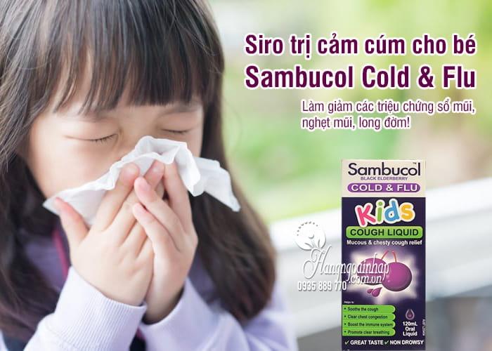 Siro trị cảm cúm cho bé Sambucol Cold & Flu 120ml 1