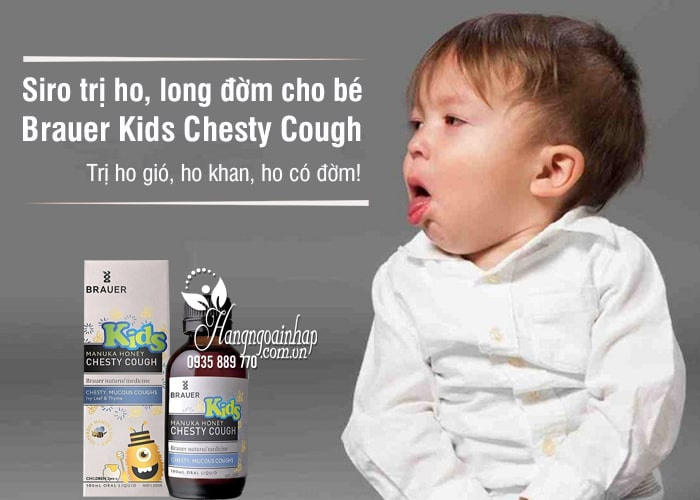 Siro trị ho, long đờm Brauer Kids Chesty Cough 100ml cho bé 1