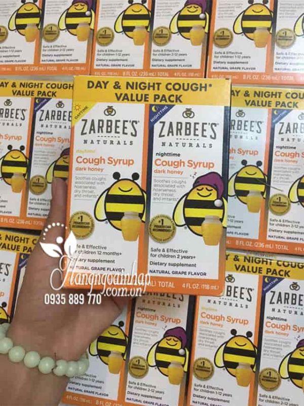 Siro trị ho mật ong Zarbee's Cough Syrup ngày và đêm cho bé của Mỹ 9
