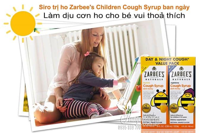 Siro trị ho mật ong Zarbee's Cough Syrup ngày và đêm cho bé của Mỹ 2