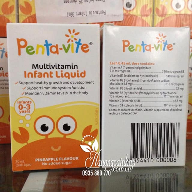 Siro vitamin tổng hợp cho bé Penta-Vite Infant Liquid (0-3 tuổi) 1