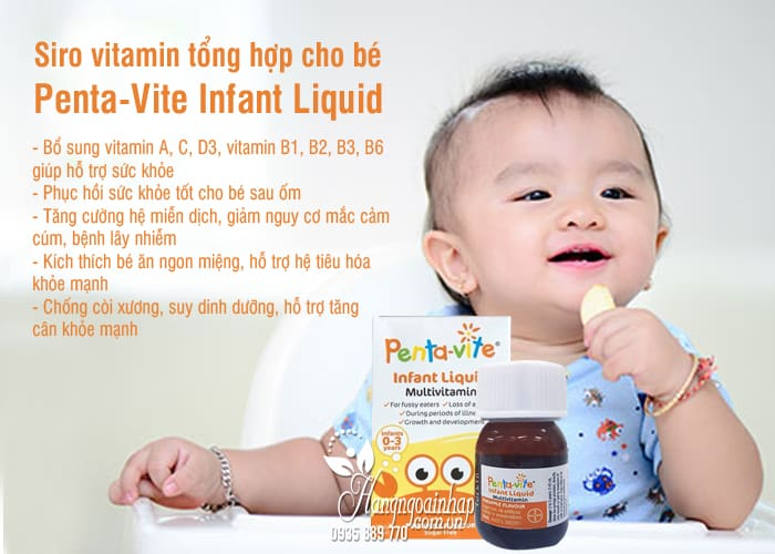Siro vitamin tổng hợp cho bé Penta-Vite Infant Liquid (0-3 tuổi) 4