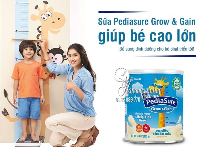 Sữa Pediasure Grow & Gain 400g Mỹ giúp bé cao lớn 1