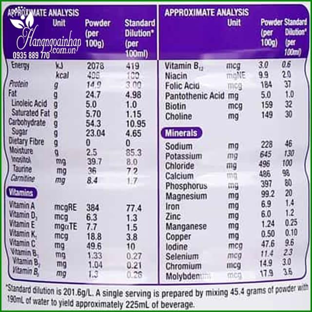 Sữa Pediasure Growth 850g cho trẻ từ 1-10 tuổi của Úc 4