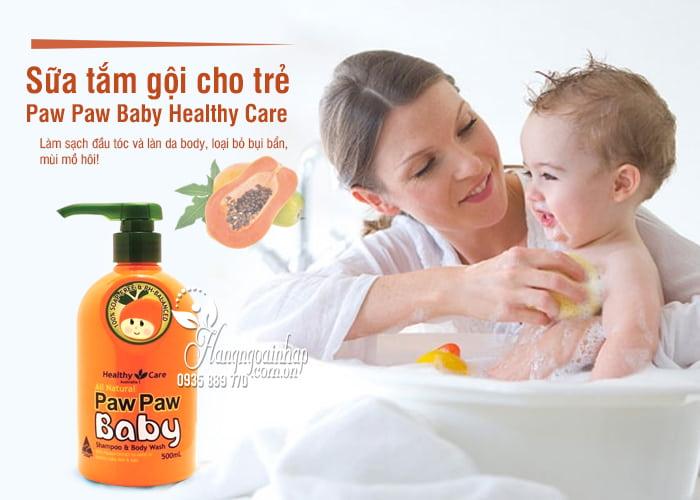 Sữa tắm gội Paw Paw Baby Healthy Care 500ml của Úc cho trẻ 1
