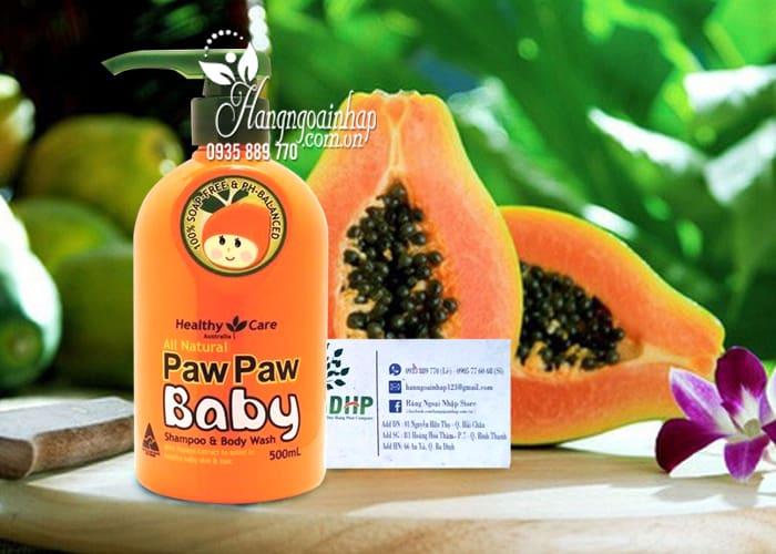Sữa tắm gội Paw Paw Baby Healthy Care 500ml của Úc cho trẻ 8