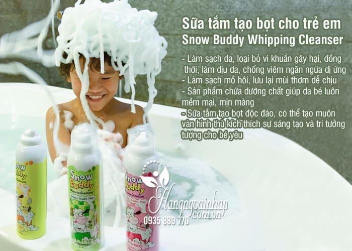 Sữa tắm tạo bọt cho trẻ em Snow Buddy Whipping Cleanser Hàn Quốc 4