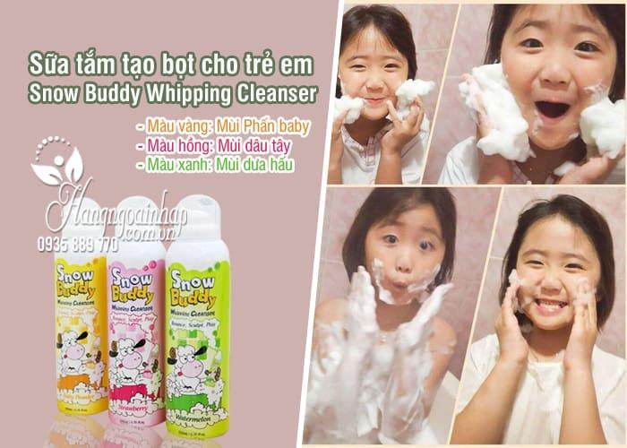 Sữa tắm tạo bọt cho trẻ em Snow Buddy Whipping Cleanser Hàn Quốc 7
