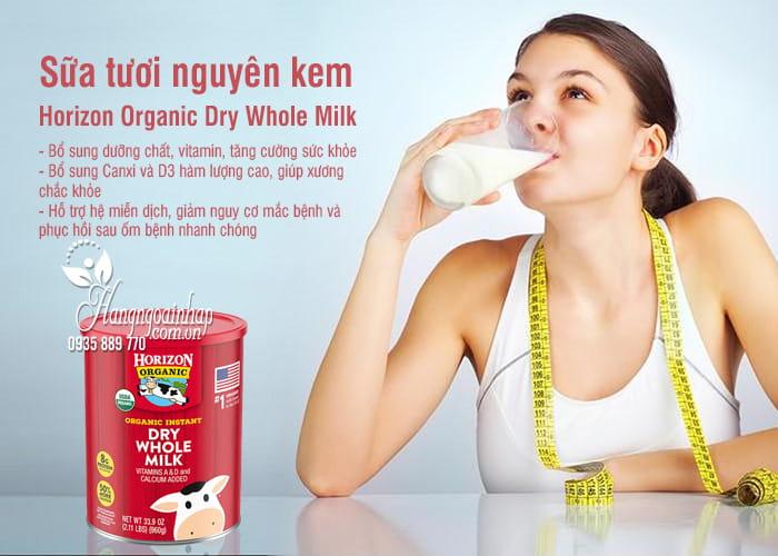 Sữa tươi nguyên kem Horizon Organic Dry Whole Milk 960g 9