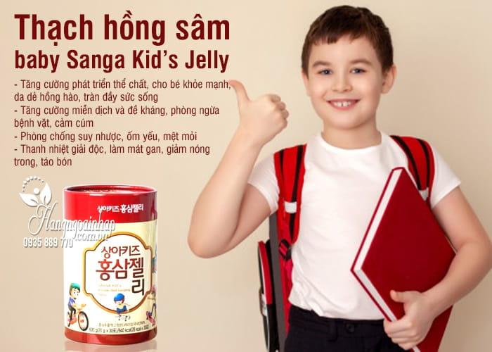 Thạch hồng sâm baby Sanga Kid's Jelly 600g Hàn Quốc 8