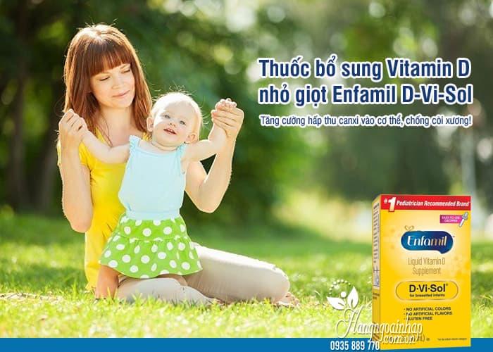 Thuốc bổ sung Vitamin D nhỏ giọt Enfamil D-Vi-Sol cho trẻ em 9