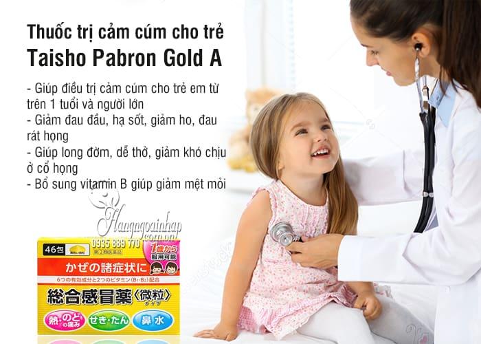 Thuốc trị cảm cúm cho trẻ Taisho Pabron Gold A 46 gói Nhật Bản 5