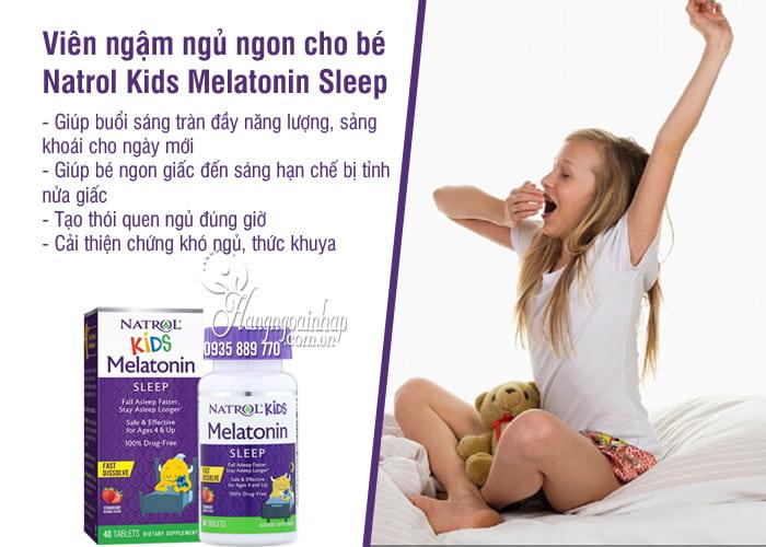 Viên ngậm ngủ ngon cho bé Natrol Kids Melatonin Sleep 2