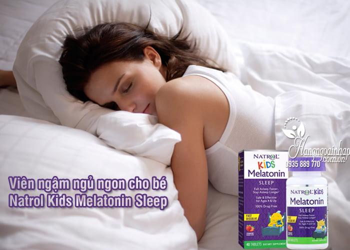 Viên ngậm ngủ ngon cho bé Natrol Kids Melatonin Sleep 1