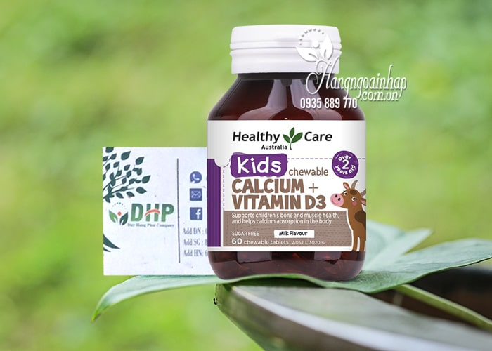 Viên nhai Calcium + Vitamin D3 Kids Chewable Healthy Care 2