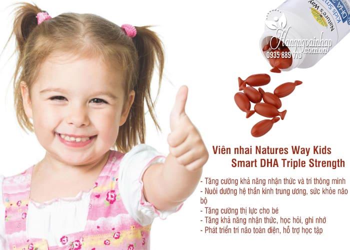 Viên nhai Natures Way Kids Smart DHA 300mg Triple Strength 1