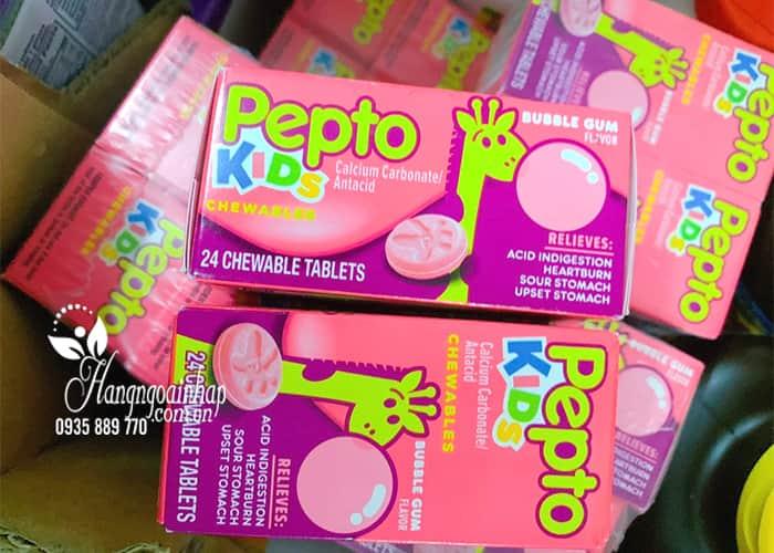 Viên nhai trị đau bụng cho bé Pepto Kids Chewable 24 viên 7