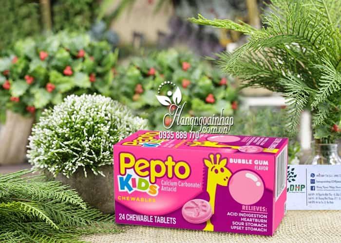 Viên nhai trị đau bụng cho bé Pepto Kids Chewable 24 viên 00