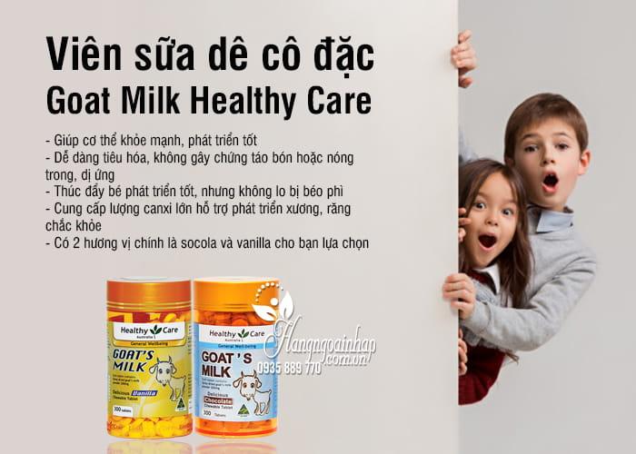 Viên sữa dê cô đặc Goat Milk Healthy Care 300 viên của Úc 2